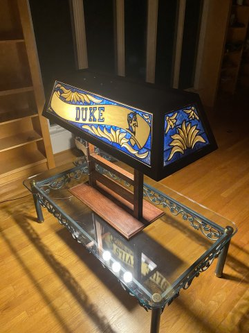 Duke Stained Glass Lamp